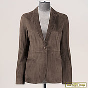 Одежда handmade. Livemaster - original item Laconic classic jacket made of genuine suede or leather. Handmade.