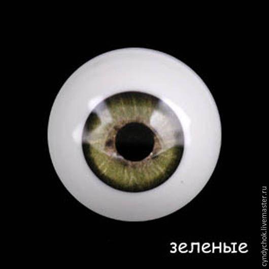 Куклы и игрушки ручной работы. Ярмарка Мастеров - ручная работа. Купить 18 мм, зеленый Глаза акриловые для кукол. Handmade.
