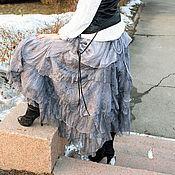 """Одежда ручной работы. Ярмарка Мастеров - ручная работа Юбка стиль  бохо на запахе """"Антрацит"""". Handmade."""