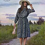 Одежда ручной работы. Ярмарка Мастеров - ручная работа Платье в богемном стиле Dana, шелковое вечернее платье оверсайз. Handmade.