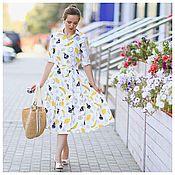 Одежда ручной работы. Ярмарка Мастеров - ручная работа Платье с бананами и грушами. Handmade.