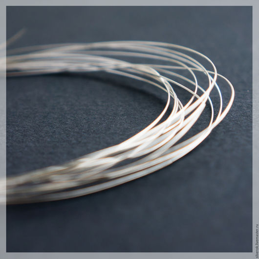 Для украшений ручной работы. Ярмарка Мастеров - ручная работа. Купить Проволока 0,25 мм серебро 925 проба. Handmade.