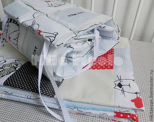 Детская ручной работы. Ярмарка Мастеров - ручная работа. Купить комплект  в кроватку. Handmade. Бортики в кроватку, детский декор