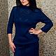 Платья ручной работы. Ярмарка Мастеров - ручная работа. Купить Вязаное авторское платье ОТТАВА. Handmade. Вязаное платье, в офис