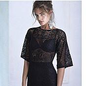 Одежда ручной работы. Ярмарка Мастеров - ручная работа Черное кружевное платье. Handmade.