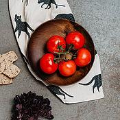 Посуда handmade. Livemaster - original item Wood flat plate (21,5#99. Handmade.