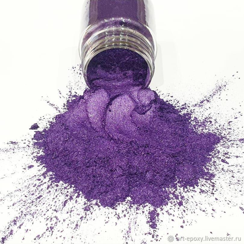 Pearl pigment. The color purple. the amount of 10 grams, Glitters, Volgograd,  Фото №1