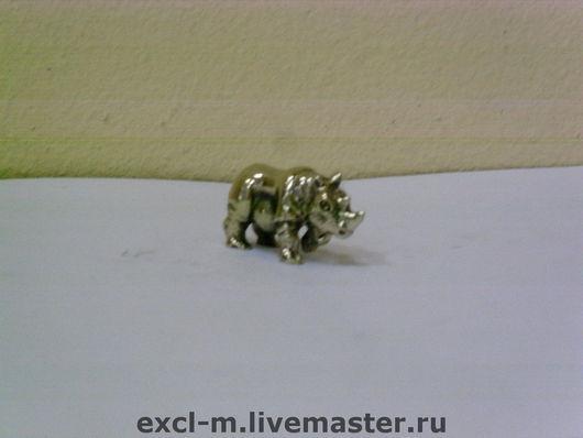 """Миниатюра ручной работы. Ярмарка Мастеров - ручная работа. Купить Статуэтка """"Носорог"""". Handmade. Носорог, миниатюра"""