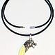 Подарки для мужчин, ручной работы. Шнур-браслет с клыком волка в серебре. bear-wolf. Интернет-магазин Ярмарка Мастеров.