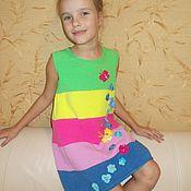"""Работы для детей, ручной работы. Ярмарка Мастеров - ручная работа Скидка 45% на Платье для девочки """"Радуга"""". Handmade."""