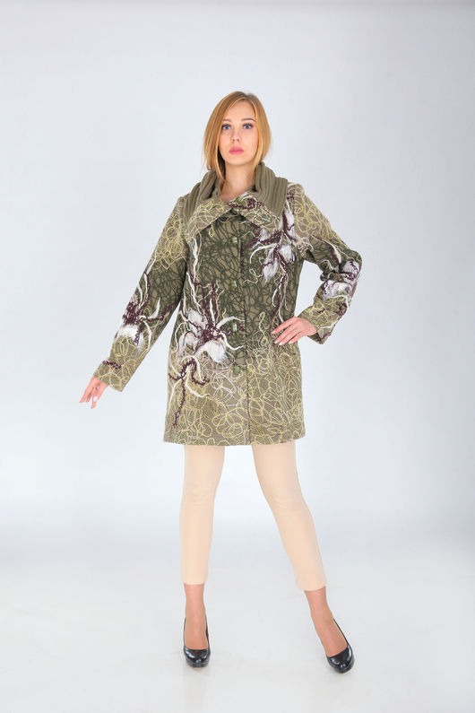 Верхняя одежда ручной работы. Ярмарка Мастеров - ручная работа. Купить СВ 63. Handmade. Хаки, пальто, стильные вещи