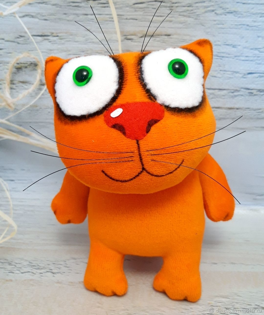 Plush soft toy ginger cat fat, moveable frame seal, Stuffed Toys, Moscow,  Фото №1