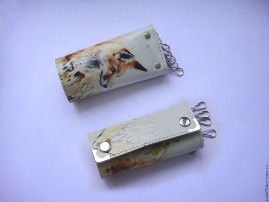 """Персональные подарки ручной работы. Ярмарка Мастеров - ручная работа. Купить ключница """"Лиса"""". Handmade. Подарок, ключница, чехол для ключей"""