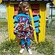 Одежда для девочек, ручной работы. Комплект для девочки-тройка: платье,  топ и легенсы.. Evnika - ателье - мастерская. Ярмарка Мастеров. В сад