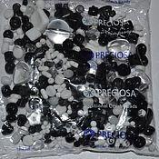 Материалы для творчества handmade. Livemaster - original item 20 gr MIX black and white Czech Preciosa beads. Handmade.