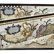 Нарды, шашки ручной работы. Ярмарка Мастеров - ручная работа Эксклюзивные стеклянные нарды OLD MAP -2 (серия S). Handmade.