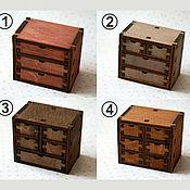 Куклы и игрушки handmade. Livemaster - original item Mini chest of drawers for dolls 1:6 (YoSD), 1:4 (MSD), 1:3 (SD). Handmade.