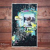 """Открытки ручной работы. Ярмарка Мастеров - ручная работа Открытка """"Взгляд из детства. Котёнок"""". Handmade."""