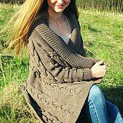 Одежда handmade. Livemaster - original item Cardigan womens knitted Chic braids. Handmade.