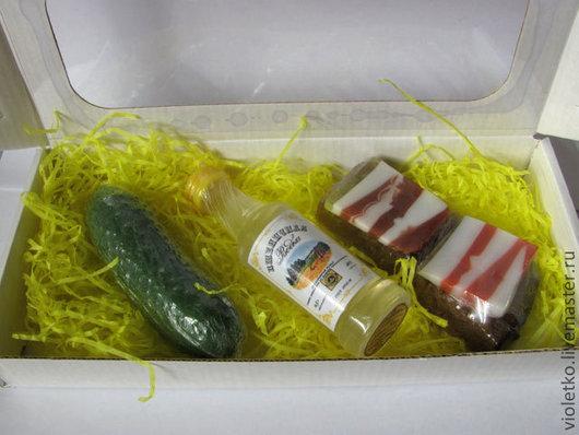 Мыло ручной работы. Ярмарка Мастеров - ручная работа. Купить Подарочный набор  для мужчин. Handmade. 23 февраля, водка