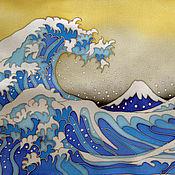 Картины и панно ручной работы. Ярмарка Мастеров - ручная работа Япония. Волна. Handmade.