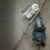 """Куклы и игрушки ручной работы. Ярмарка Мастеров - ручная работа """"Волчок серый бочок"""" волчонок тедди-долл. Handmade."""