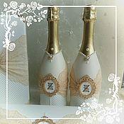 """Оформление свадебных бутылок """"Ванилька"""""""