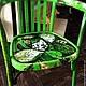 """Мебель ручной работы. Ярмарка Мастеров - ручная работа. Купить Кресло венское """"Листья"""". Handmade. Зеленый, кресло, удобный"""