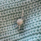 Украшения handmade. Livemaster - original item Knitting, silver pendant. Handmade.