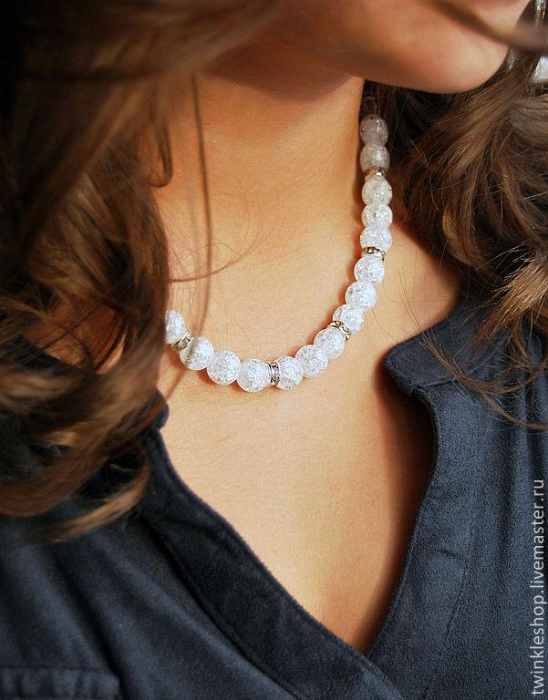 Necklace snow quartz, Necklace, Moscow,  Фото №1