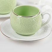 Single Tea Sets handmade. Livemaster - original item Coffee couple