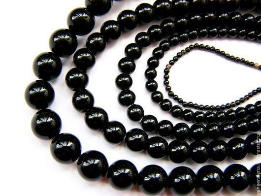 Для украшений ручной работы. Ярмарка Мастеров - ручная работа. Купить Бусины агат черный натуральный камень 12 мм 10 мм 8 мм 6 мм 4 мм. Handmade.