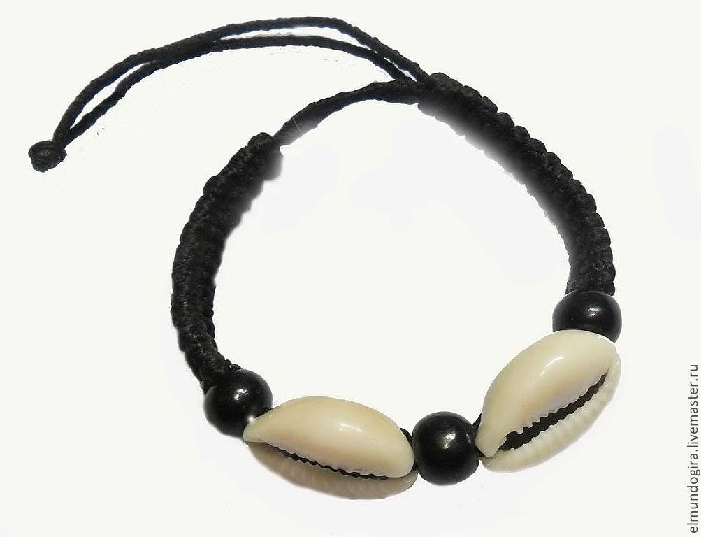 Bracelets with cowrie (optional) sea, Bead bracelet, Moscow,  Фото №1