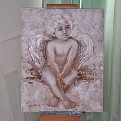 Картины и панно ручной работы. Ярмарка Мастеров - ручная работа Ангел отдыхает. Handmade.