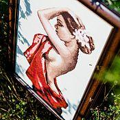 """Картины и панно ручной работы. Ярмарка Мастеров - ручная работа Вышивка крестом """"Кармен"""". Handmade."""