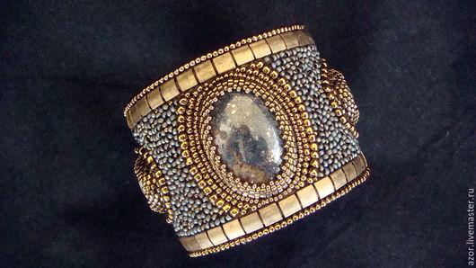 """Браслеты ручной работы. Ярмарка Мастеров - ручная работа. Купить браслет """"Te Amo W"""". Handmade. Серый, натуральные камни"""