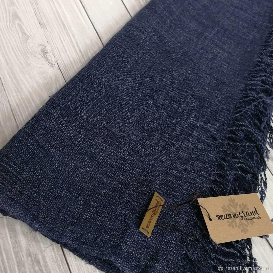 Тканый шарф ручной работы из итальянской пряжи лён, Шарфы, Рубцовск,  Фото №1