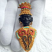 handmade. Livemaster - original item Brooch Prince of Africa, Askew London, England, gold 24k. Handmade.