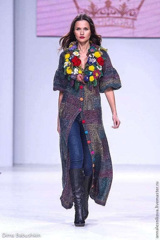 """Платья ручной работы. Ярмарка Мастеров - ручная работа. Купить Платье-пальто """"Выпуклые цветы"""" длинное. Handmade. Платье"""