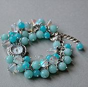 Украшения handmade. Livemaster - original item Wave bracelet with agate. Handmade.