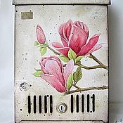 """Для дома и интерьера ручной работы. Ярмарка Мастеров - ручная работа Почтовый ящик """"Магнолия"""". Handmade."""