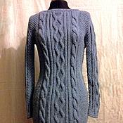 Одежда ручной работы. Ярмарка Мастеров - ручная работа Платье вязаное с аранами. Handmade.