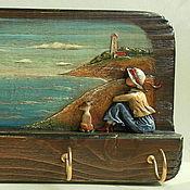"""Подарки к праздникам ручной работы. Ярмарка Мастеров - ручная работа """"Берег""""  вешалка ключница. Handmade."""