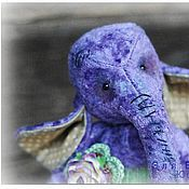 Мягкие игрушки ручной работы. Ярмарка Мастеров - ручная работа Слоня. Handmade.