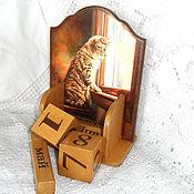 Канцелярские товары handmade. Livemaster - original item Perpetual calendar I am waiting for you at home..... Handmade.