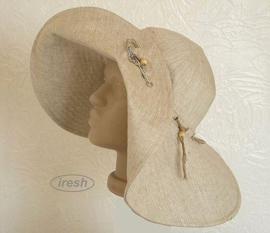"""Шляпы ручной работы. Ярмарка Мастеров - ручная работа. Купить Шляпа летняя """"Прохлада льна"""". Handmade. Шляпа, шляпа из льна"""