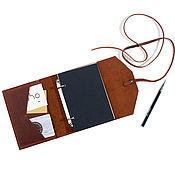 Канцелярские товары handmade. Livemaster - original item Nominal leather notebook on rings A6 notebook made of genuine leather. Handmade.