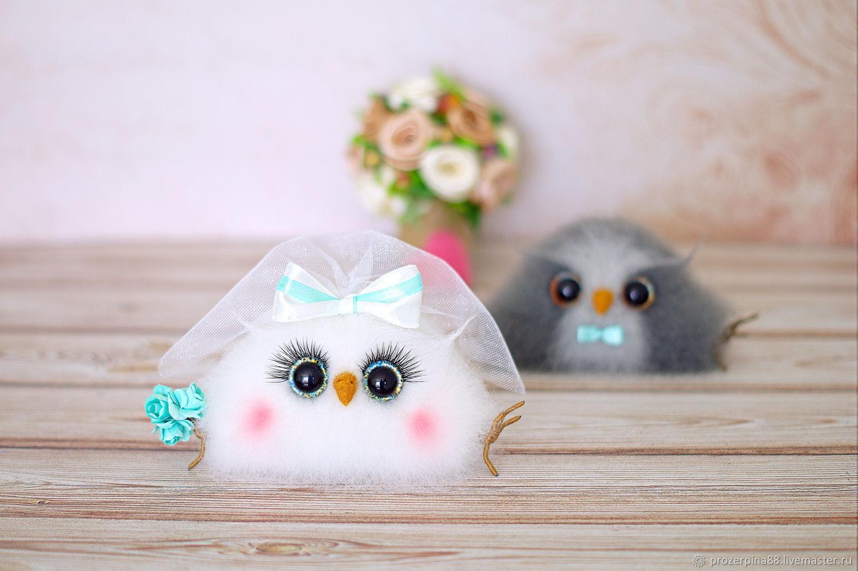 Свадебные игрушки совы. Жених и невеста игрушки интерьерные, Подарки, Новосибирск,  Фото №1