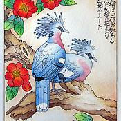 Картины и панно handmade. Livemaster - original item Watercolour Crowned Pigeons. Handmade.