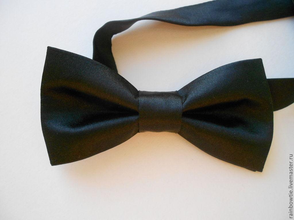 Бабочки галстук из атласных лент своими руками